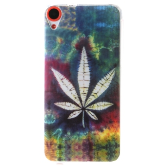 Ultra Thin Soft TPU Phone Back Case Cover For HTC Desire 820 (Maple Leaf)
