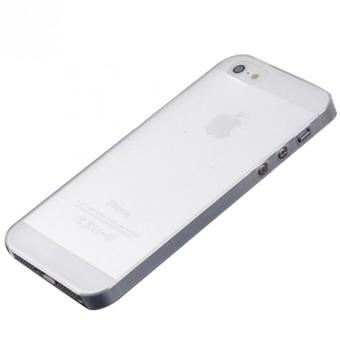 Ultra Thin TPU and Rubber Back Hard Case for Apple iPhone 5 5S Setof 5 (White)