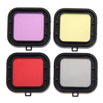 Underwater Diving Filter Lens Cover UV Filter for GoPro Hero 4 3+Set of 4
