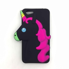 Unicorn Silicon Character Case for Vivo Y53 (2017) (Black) withFree Spinner (