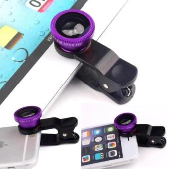 Universal 2 In 1 Clip On Fish Eye Mobile Camera Lens