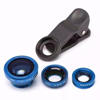 Universal 3 In 1 Clip On Fish Eye Mobile Camera Lens (BLUE) Price Philippines