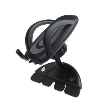 Universal Car CD Slot Phone Holder Stand For iPhone CellphoneBlack