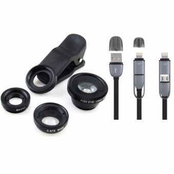 Universal Clip Lens for Mobile Phone (Black) with 2 in 1 USB CordColor May Vary Price Philippines