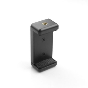 Universal Mobile Cell Phone iPhone Clip Bracket Holder forTripod/Monopod Stand (Black)