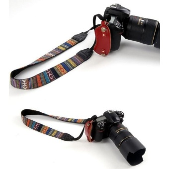 Universal Retro Vintage Style Camera Strap Soft Striped Weave(Multicolor) - intl