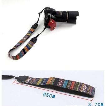 Universal Retro Vintage Style Camera Strap Soft Striped Weave(Multicolor) - intl - 2