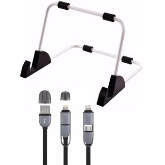 Universal Stand for Tablets (White) with 2 in 1 Cord Color May Vary
