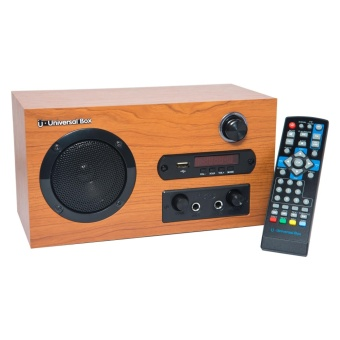 Universal TV Box 6 in 1 Mega Multimedia Player (DTV, Bluetooth speaker, Karaoke, FM Radio, PVR, and multimedia player ) - Light Brown Price Philippines