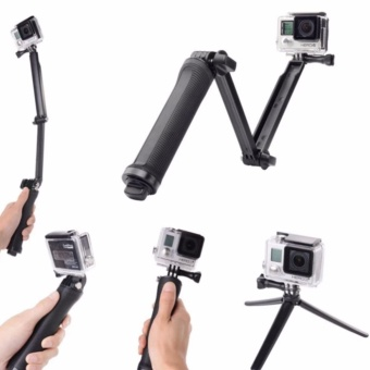Universal Waterproof 3-Way Monopod For GoPro Hero 4/2/3/3+/SJCAM SJ4000/Xiaoyi