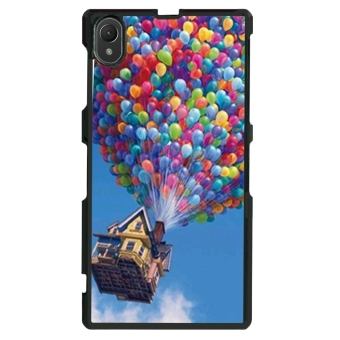 Up Balloon Pattern Phone Case for Sony Xperia Z1 L39h (Black)
