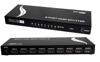 Upgraded MT-VIKI 8 Port HDMI Splitter Distributor Video Sharing 1Input to 8 Output Multiple LCD Monitor Synch Display MT-SP108m