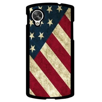 USA Flag Pattern Phone Case for LG Nexus 5 (Multicolor)