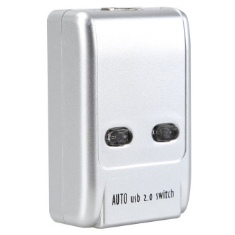 USB 2.0 Hub Auto Sharing Switch 2 Ports for Computer PC Printer Mini