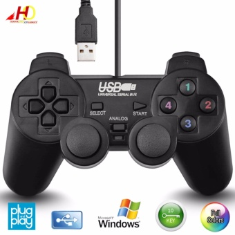 USB 2.0 Gamepad Game Controller Joypad Joystick for Computer Laptop