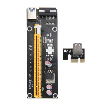 USB 3.0 PCI-E Express 1x To 16x Extender Riser Card Adapter PowerCable