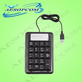 USB Numeric Keypad Mini Number Pad 19 Keys Keyboard for Laptop PCmacbook