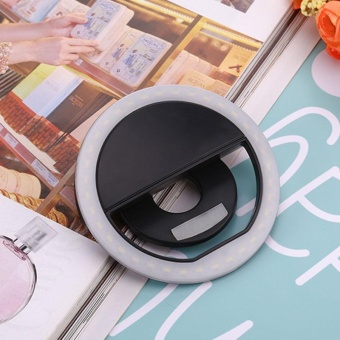 USB Selfie Fill Light Ring LED Clip Photography Photo For Mobile Phone Portable - intl