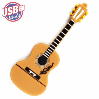 USB World Acoustic/Classical Guitar 32GB USB Rubber Flash Drive(Brown)