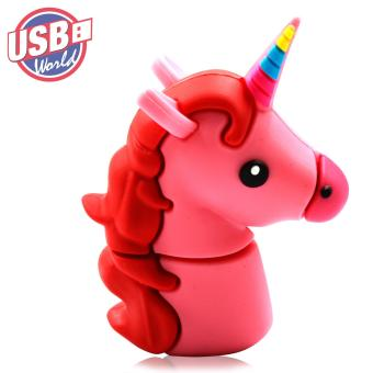 USB World Action Figure Pink Unicorn 32GB USB Rubber Flash Drive - 2
