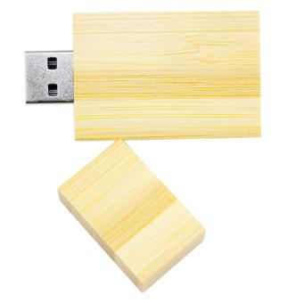 USB World Cyrus Wooden 16GB USB Flash Drive (Light) - 2