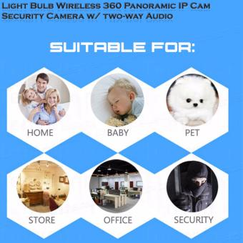 V380s Light Bulb Wireless Wi-fi 360? Panoramic IP Cam Security Camera w/ two-way Audio, Real time View - 4