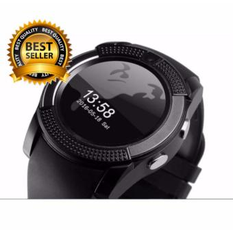 V8 Smart Watch Clock With Sim TF Card Slot Bluetooth for Android and iOS(black)