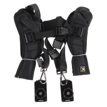 VAKIND Quick Rapid Double Dual Shoulder Sling Belt Strap for TwoDSLR Digital Camera (Black) - intl - 4
