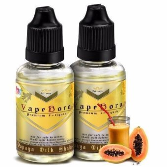 Vapeboro Premium E-Juice for Electronic Cigarette 30ml 3mg NicotineLevel Set of 2 (Papaya Milkshake)