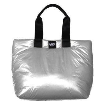 "Vax Barcelona Ravella Woman Tote Bag 16"" Bright Silver"