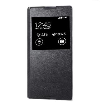 View Leather Flip Cover For Sony Xperia XA1 (Black)