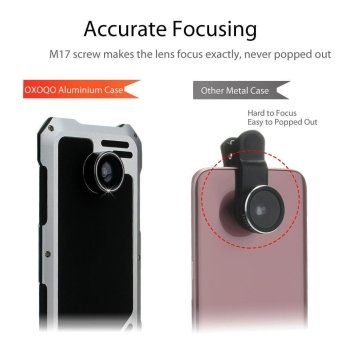 VIKING for Samsung Galaxy S7 edge G935 Shockproof Aluminum Case with 3 in 1 Camera Lens Kit - Silver - intl - 2