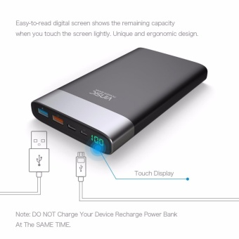 Vinsic 20000mAh External Battery QC 3.0 Quick Charge Power Bank,One QC 3.0 Quick Charge USB Output, One Standard USB Output and OneInput&Output Type -C - 4