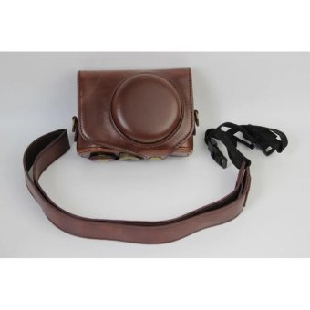 Vintage Leather Camera Case for Canon powershot G7XII / G7 X II /G7X MarkII / G7 X Mark II Camera Bag Cover - intl