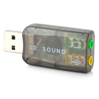 Virtual Channel USB Sound Card Adapter (Black)