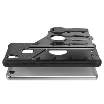 Vivo V3 Case, [Kickstand Feature] Rotate Stand Holder ProtectiveShell Hybrid Bumper Armor Rubber Shockproof Case Cover for Vivo V3- intl - 5