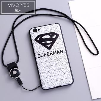 VIVO y67/VIVO y66/y55 cute silicone lanyard phone case