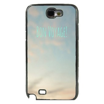 Voyage Pattern Phone Case For Samsung Galaxy Note 2 (Black)
