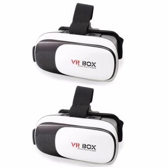 VR Box 3D Virtual Reality Glasses for Smartphone (White/Black) Setof 2