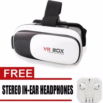 VR Box 3D Virtual Reality Glasses for Smartphone (White/Black)WithFree Headset(White) Price Philippines