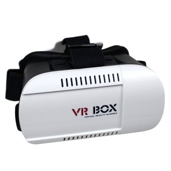Vr Box Goggles Virtual Reality 3D Glasses for iPhone Android(White/Black) Price Philippines