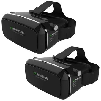 VR Box Shinecon Smartphone 3D Virtual Reality Glasses (Black) SetOf 2 Price Philippines