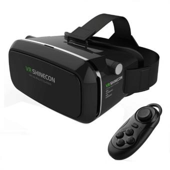 VR Box Shinecon Smartphone 3D Virtual Reality Glasses (Black) withGamepad Bluetooth Remote Control Shutter (Black) Price Philippines