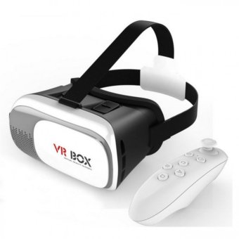 VR Box VR02 Virtual Reality Glasses for Smart Phones (Black/White)with Smart Bluetooth Wireless Mouse Price Philippines