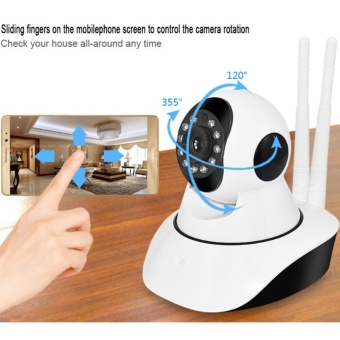 VV380 APP-Link Dual Antenna Smart Home CCTV WIFI IP Camera (White)