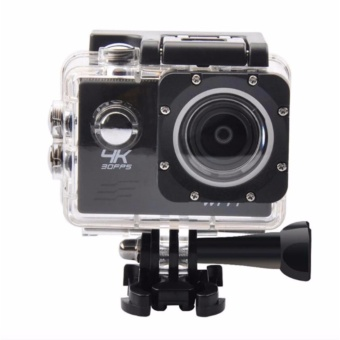W8 4K 1080p Ultra HD DV 16MP WiFi Sports Action Camera (Black)