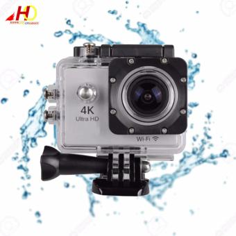 W8 4K 1080p Ultra HD DV 16MP WiFi Sports Action Camera (Silver)