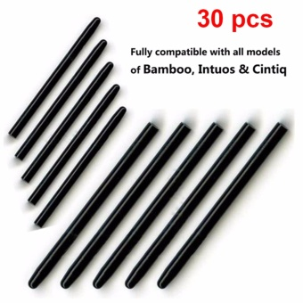 Wacom 30 Pcs / lot Graphic Drawing Pad Standard Black Pen NibsReplacement Stylus for Bamboo Intuos Cintiq Drawing Pad Pen - intl