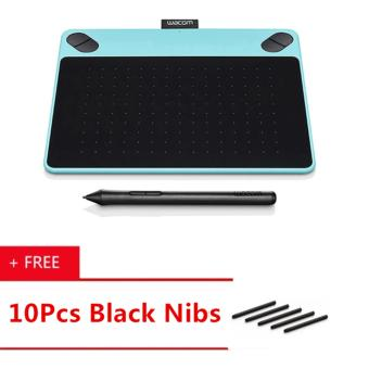 Wacom Intuos Draw CTL-490/B0-CX Digital Drawing and Graphics Tablet(Blue) [ Buy 1 Get 10Pcs Black Nibs ]