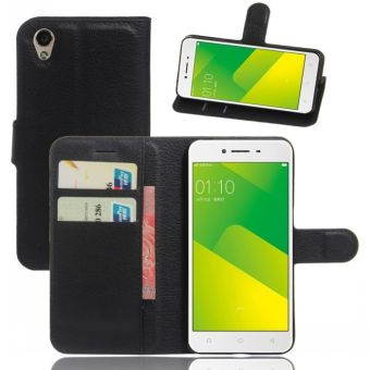Wallet Flip Leather Case Cover For Oppo A37 / Oppo Neo9 (Black) - intl
